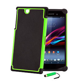 Sony Xperia Z Ultra Dual-layer shockproof case - Green Mobile phones
