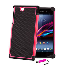 Sony Xperia Z Ultra Dual-layer shockproof case - Hot Pink Mobile phones