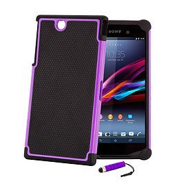 Sony Xperia Z Ultra Dual-layer shockproof case - Purple Mobile phones