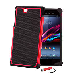 Sony Xperia Z Ultra Dual-layer shockproof case - Red Mobile phones