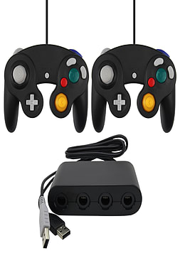 ZedLabz Gamecube controllers & USB GameCube adapter value bundle for Wii U Wii U