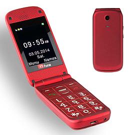 TTfone Venus TT700 Big Button Flip Mobile Phone Simple Unlocked Camera SOS Emergency Button - Red Phones