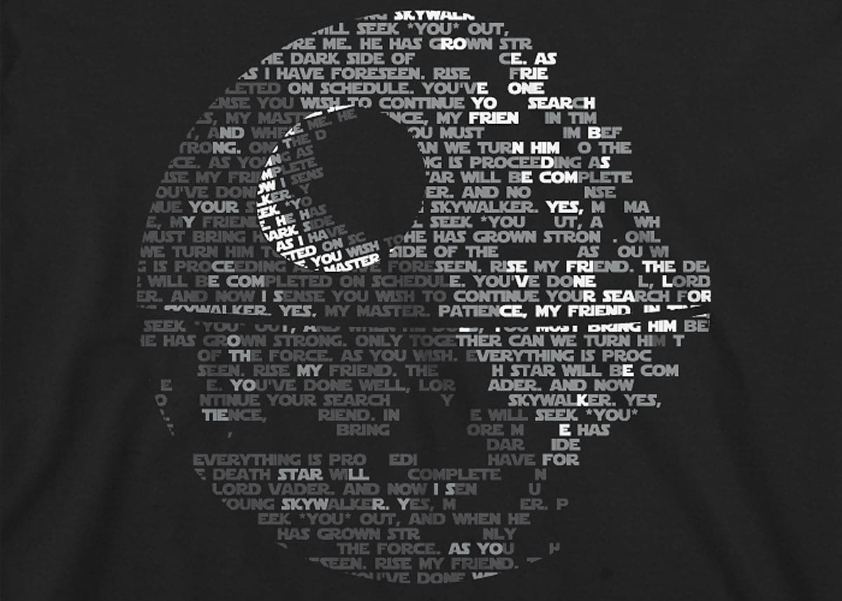 Star Wars: Death Star Mens T-Shirt Small Black screen shot 1