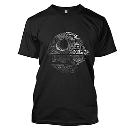 Star Wars: Death Star Mens T-Shirt Large Black Clothing