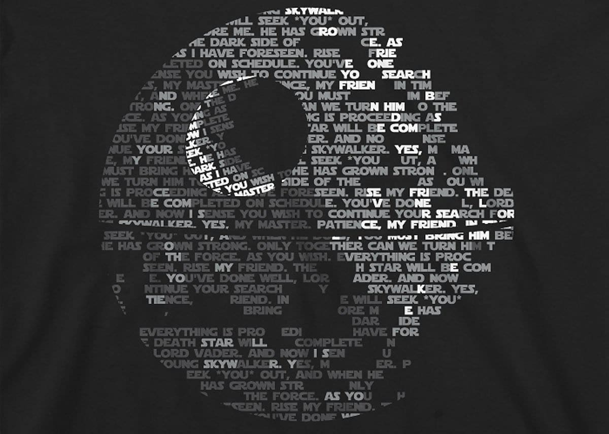 Star Wars: Death Star Mens T-Shirt Xl Black screen shot 1