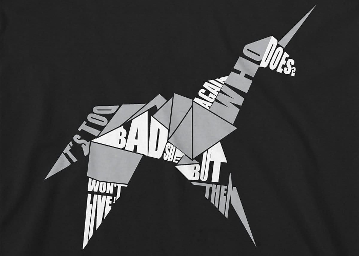 Black t shirt xl - Blade Runner Origami Unicorn Mens T Shirt Xl Black