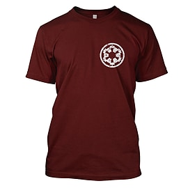 Star Wars: Imperial Cog Mens T-Shirt Small Dark Red Clothing