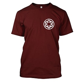 Star Wars: Imperial Cog Mens T-Shirt Large Dark Red Clothing