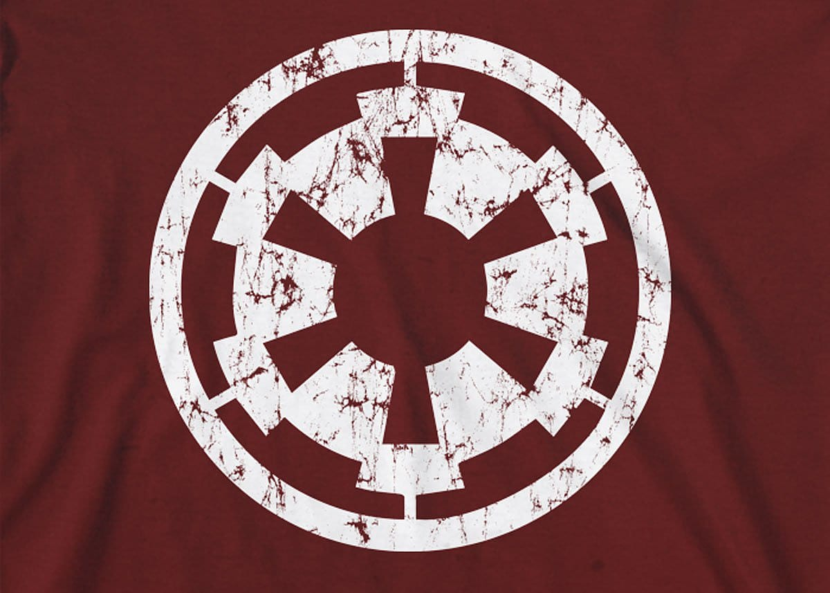 Star Wars: Imperial Cog Mens T-Shirt Large Dark Red screen shot 1