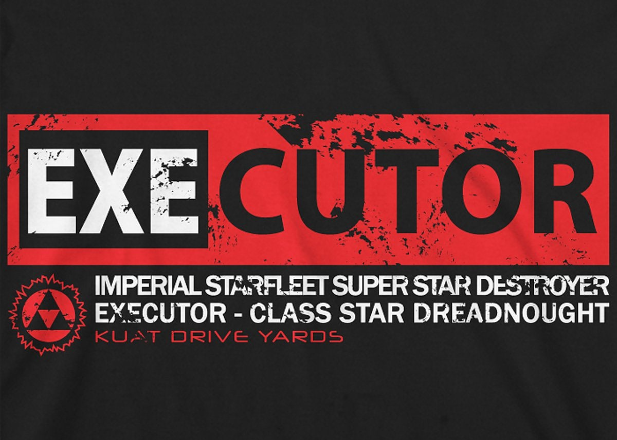 Star Wars: Executor Mens T-Shirt Medium Black screen shot 1