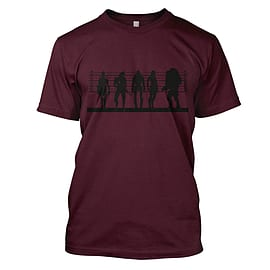 Mass Effect Suspects Mens T-Shirt Large Maroon Clothing