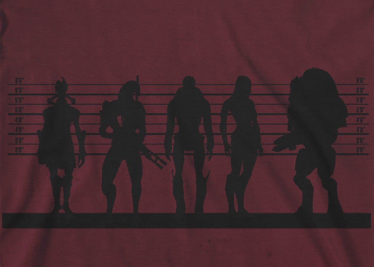 Mass Effect Suspects Mens T-Shirt Large Maroon screen shot 1