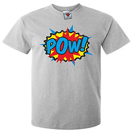Men's POW T-Shirt (Light Grey) Large Clothing