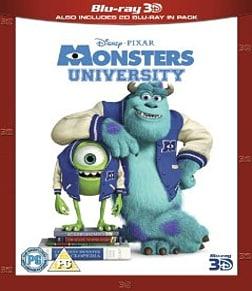 Monsters University 3D + Blu-ray Blu-ray