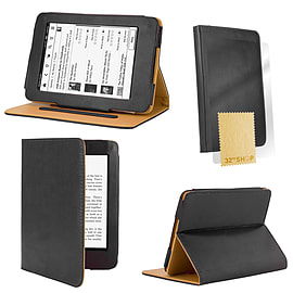 Amazon Kindle Paperwhite PU leather book case Black Tablet