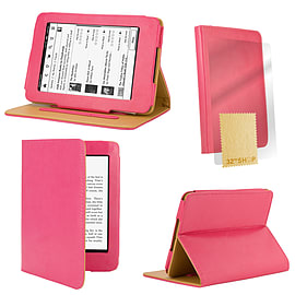 Amazon Kindle Paperwhite PU leather book case Hot Pink Tablet
