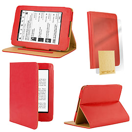 Amazon Kindle Paperwhite PU leather book case Red Tablet