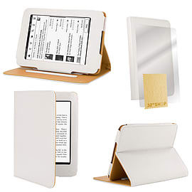 Amazon Kindle Paperwhite PU leather book case White Tablet