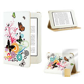 Amazon Kindle Paperwhite PU leather design book case Colour Butterfly Tablet
