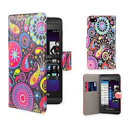 Blackberry Z10 PU leather design book case - Jellyfish Mobile phones