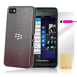 Blackberry Z10 Raindrop gel silicone case - Hot Pink Mobile phones