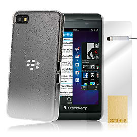 Blackberry Z10 Raindrop gel silicone case - White Mobile phones