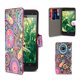 HTC One M7 PU leather design book case - Jellyfish Mobile phones