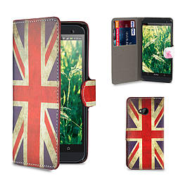 HTC One M7 PU leather design book case - Union Jack Mobile phones