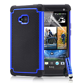 HTC One M7 Dual-layer shockproof case - Deep Blue Mobile phones
