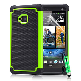 HTC One M7 Dual-layer shockproof case - Green Mobile phones