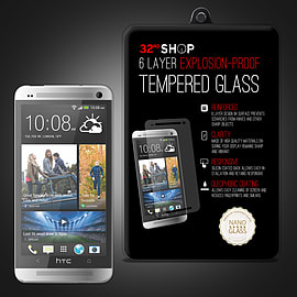 HTC One M7 Extra Armoured tempered glass screen protector Mobile phones
