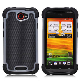 HTC One S Dual-layer shockproof case - Grey Mobile phones