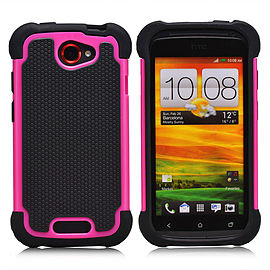 HTC One S Dual-layer shockproof case - Hot Pink Mobile phones