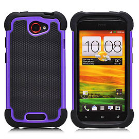 HTC One S Dual-layer shockproof case - Purple Mobile phones