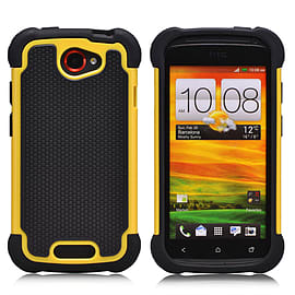 HTC One S Dual-layer shockproof case - Yellow Mobile phones