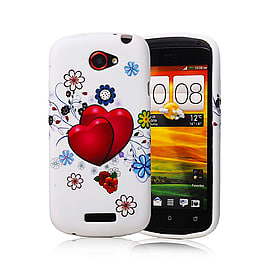 HTC One S TPU design case - Two Hearts Mobile phones