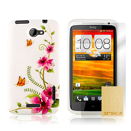HTC One X TPU design case - Five Flowers Mobile phones