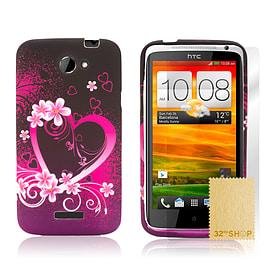 HTC One X TPU design case - Love Heart Mobile phones