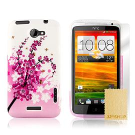 HTC One X TPU design case - Plum Flower Mobile phones