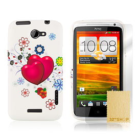 HTC One X TPU design case - Two Hearts Mobile phones