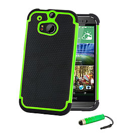 HTC One X Dual-layer shockproof case - Green Mobile phones