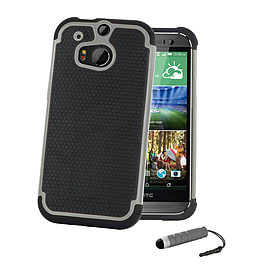 HTC One X Dual-layer shockproof case - Grey Mobile phones