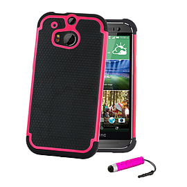 HTC One X Dual-layer shockproof case - Hot Pink Mobile phones