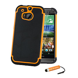 HTC One X Dual-layer shockproof case - Orange Mobile phones