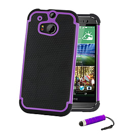 HTC One X Dual-layer shockproof case - Purple Mobile phones