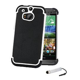 HTC One X Dual-layer shockproof case - White Mobile phones