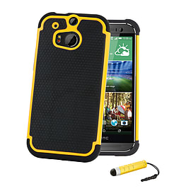 HTC One X Dual-layer shockproof case - Yellow Mobile phones