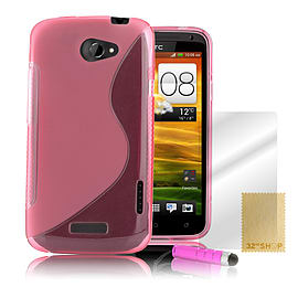 HTC One X S-Line gel case - Baby Pink Mobile phones