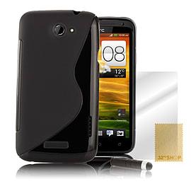 HTC One X S-Line gel case - Black Mobile phones