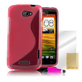 HTC One X S-Line gel case - Hot Pink Mobile phones